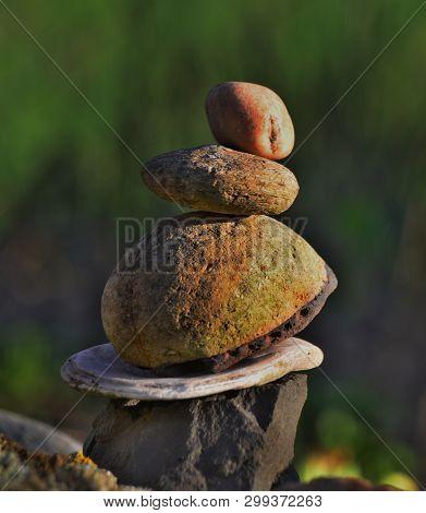 Children Play With A Stone, South Bohemia, Czech Republic