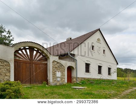 Repaired Traditional Village Outhouse, South Bohemia, Czech Republic