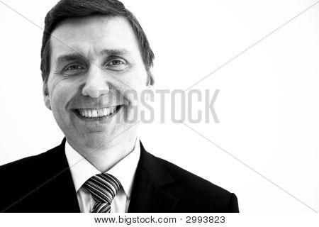 Smiling Business Man Mono