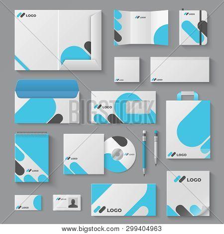 Corporate Brand Identity. Business Stationery Mockup Branding Envelope Card Mug Document Presentatio