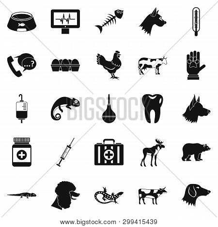 Cow Leech Icons Set. Simple Set Of 25 Cow Leech Icons For Web Isolated On White Background
