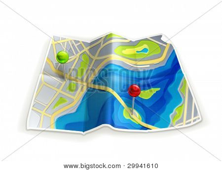 Road map, vector