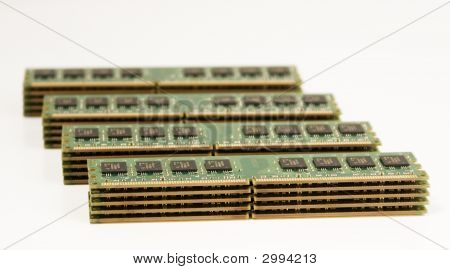 4 Column Of Computer Memory Modules