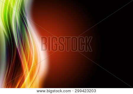 Abstract Elegant Wave Design With Space For Your Text