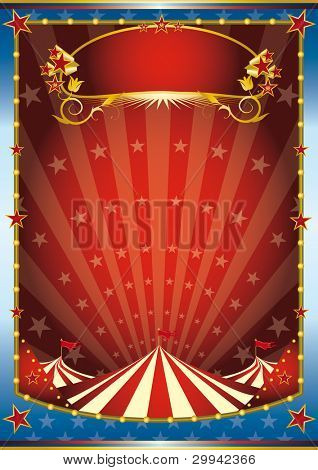 blue and red circus background. a circus background. Read your message. See another illustrations like this on my portfolio.