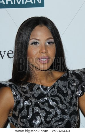LOS ANGELES - FEB 11:  Toni Braxton arrives at the Pre-Grammy Party hosted by Clive Davis at the Beverly Hilton Hotel on February 11, 2012 in Beverly Hills, CA