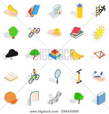 Stamina Icons Set. Isometric Set Of 25 Stamina Icons For Web Isolated On White Background