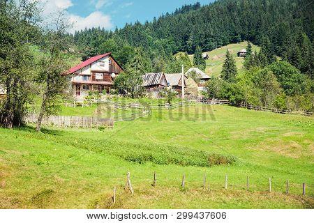 Village In The Carpathian Mountains, Apuseni Region, Romania