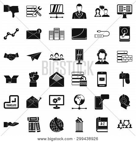 Fellowship Icons Set. Simple Style Of 36 Fellowship Icons For Web Isolated On White Background