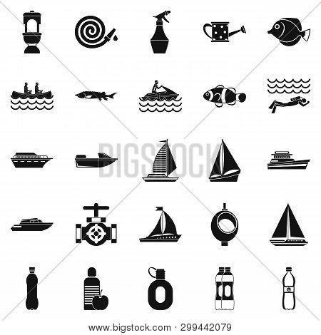 Backwash Icons Set. Simple Set Of 25 Backwash Icons For Web Isolated On White Background