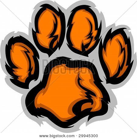 Tiger Paw Graphic Mascot Vector Illustration Image poster