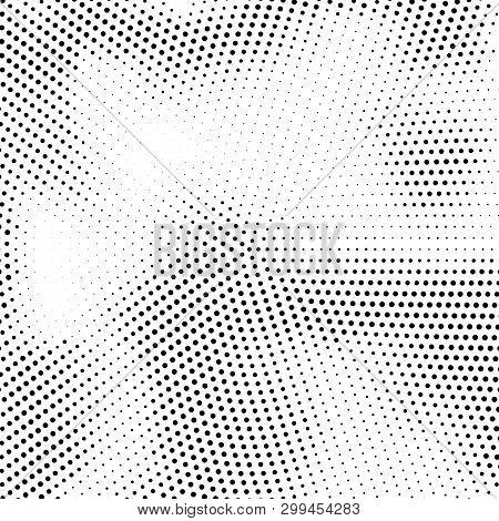 Grange Halftone Texture Of Black And White Dots. Abstract Grange Halftone Texture. Black And White M