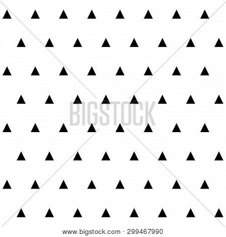 Abstract Geometric Seamless Pattern With Tringles Repeat Iteration.