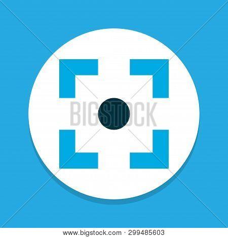 Center Focus Icon Colored Symbol. Premium Quality Isolated Capture Element In Trendy Style.