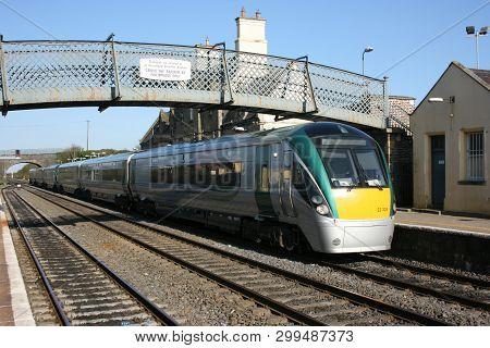 Kildare Station ,ireland, April 2010, An Iarnrod Eireann Train Service