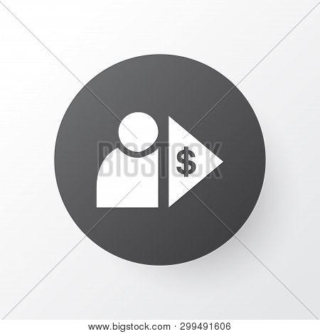 Investor Icon Symbol. Premium Quality Isolated Capitalist Element In Trendy Style.