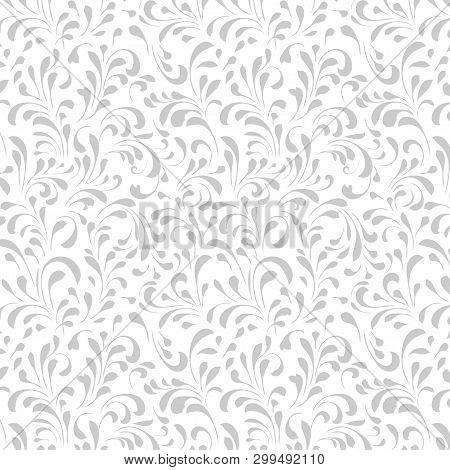 Vintage Floral Pattern, Floral Seamless Pattern Background.