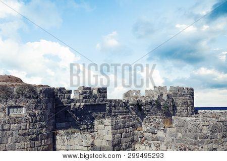 The Castle Of Knights Order Of Saint John. Greece. Kos Island.