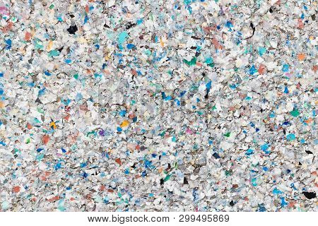 Rough Texture Of Decomposing Recycled Plastic Pellets