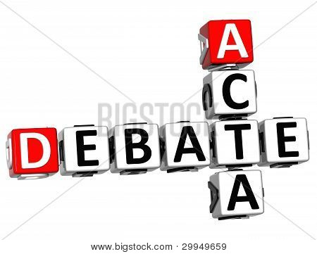3D Debate Acta Crossword
