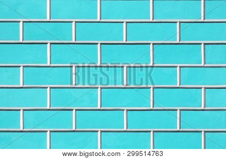 Brick wall background - new bricks wall pattern. Texture brick wall of blue color