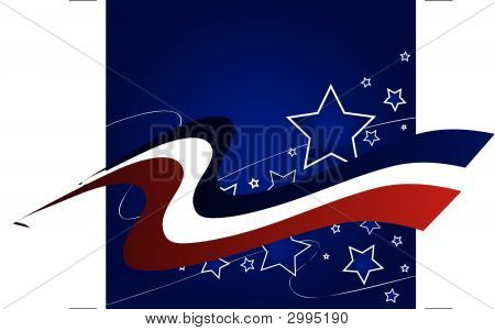 Red White Blue Star Background