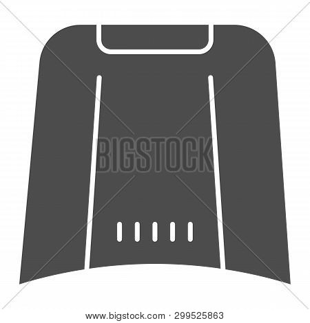Car Hood Solid Icon. Automobile Bonnet Vector Illustration Isolated On White. Car Part Glyph Style D