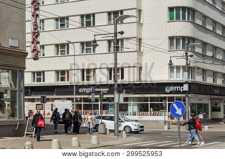 Gdynia, Pomeranian Region / Poland - 2019: City Traffic On The Main Street Of A Big Agglomeration