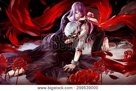 Cute Anime Boy And Girl In Love
