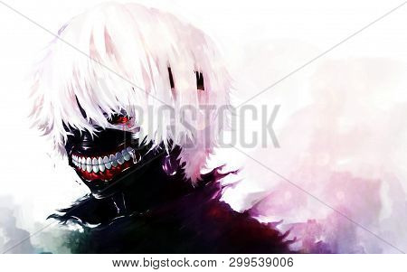 Cute Anime Boy With Mask On Face