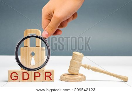 Gdpr Concept. Data Protection Regulation. Cyber Security And Privacy. Law On Data Protection And Pri