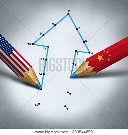 United States China Partnership And Global Business Connection Success And Economic Trade Agreement