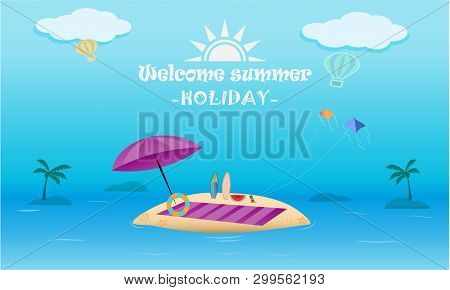 Tonality Vector Color Of Welcome Summer Season And Holiday Concept