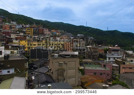 Landscape View Of Residential In Local Jiufen In Taiwan.