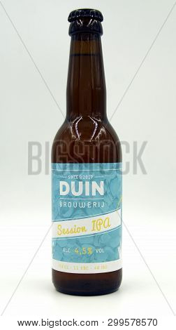 Almere, The Netherlands - May 5, 2019: Bottle Of Session Ipa Beer By Brewed By Dutch Duin Brouwrij.