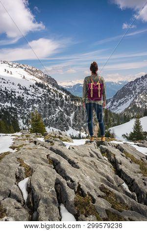 Traveling Outdoor Hiking Walking Nature. Traveling In Nature. Travel Outdoor Backpacking Nature. Nat