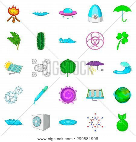 Might Icons Set. Cartoon Set Of 25 Might Icons For Web Isolated On White Background