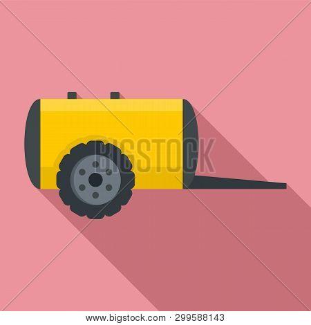Farm Trail Cistern Icon. Flat Illustration Of Farm Trail Cistern Icon For Web Design
