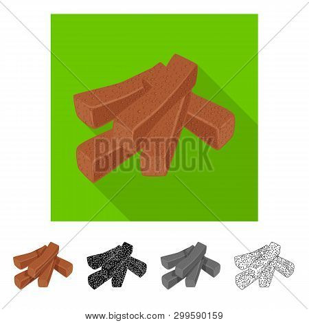 Vector Design Of Croutons  And Bread Logo. Set Of Croutons  And Crackers  Vector Icon For Stock.