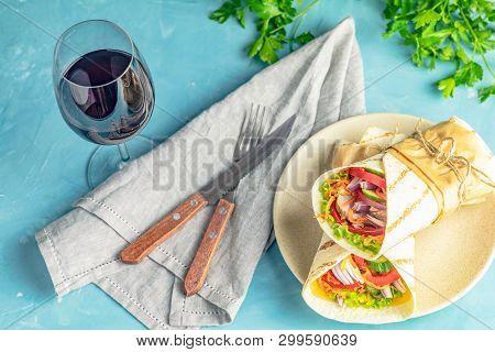 Shawarma Sandwich Gyro Fresh Roll Of Lavash (pita Bread) Chicken Beef Shawarma Falafel Recipetin Eat