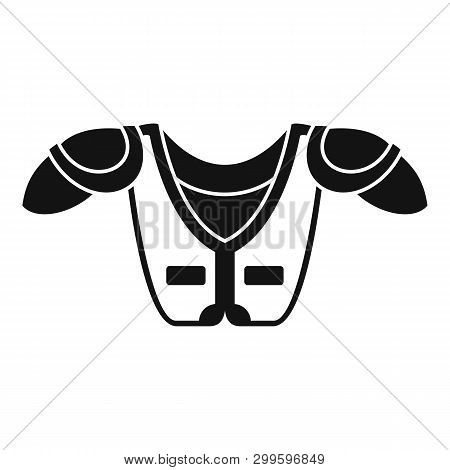 American Football Shoulder Chest Protect Icon. Simple Illustration Of American Football Shoulder Che