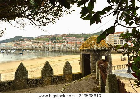 Baiona, Partial View Of Town And Ribeira Beach