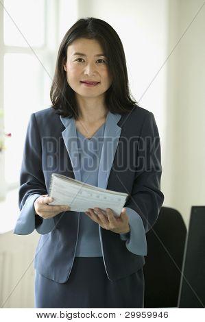 Businesswoman posing
