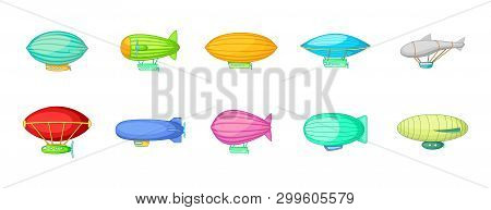 Airship Icon Set  Image & Photo (Free Trial) | Bigstock