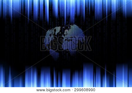 Global Network Connection.business Concept And Internet Technology.technology Background . Vector Il