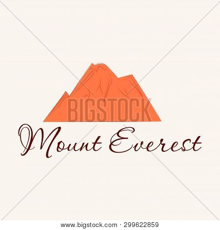 Everest - Snowbound Himalayas Mountain Label. Mount Everest, Mountain Symbol, Abstract Patch, With N