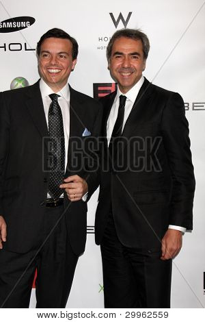 LOS ANGELES, CA - FEB 13: Elio Leoni-Sceti , Nick Gatfield at the EMI GRAMMY After-Party at Milk Studios on February 13, 2011 in Los Angeles, California