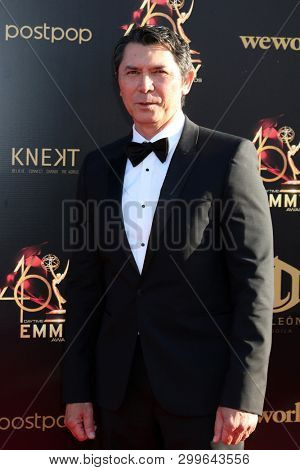 LOS ANGELES - MAY 3:  Lou Diamond Phillips at the 2019 Creative Daytime Emmy Awards at Pasadena Convention Center on May 3, 2019 in Pasadena, CA