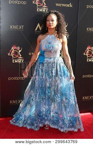 LOS ANGELES - MAY 3:  Monique Coleman at the 2019 Creative Daytime Emmy Awards at Pasadena Convention Center on May 3, 2019 in Pasadena, CA
