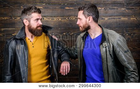 Disappointed Partner Argue. Showdown Concept. Conflict And Confrontation. Man Argue While Guy Feel S